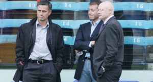 Mourinho and Abramovich at the sidelines