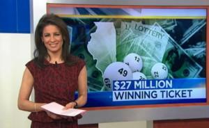 $27 million winning lottery jackpot ticket